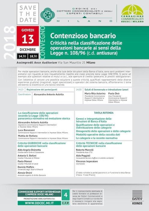 Alessio Orsini - Il Sole 24 Ore - Avvocato Usura Bancaria